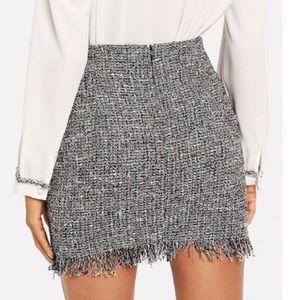 Skirts - FRAYED TWEED SKIRT